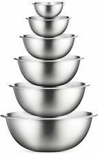 Premium Stainless Steel Mixing Bowls - Brushed Stainless Steel Mixing Bowl Set