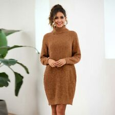 Long Sleeve Pullover Loose Casual Knitted Womens Knitwear Jumper Knit Shirt