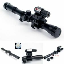 4x20 Rifle Optics Scope Rail Mount Tactical Crossbow With Red Dot Laser Sight