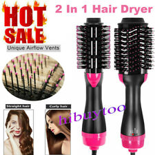 2In1 1000W One Step Hair Dryer Comb And Volumizer Pro Brush Straightener Curler
