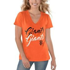 G-III 4Her by Carl Banks San Francisco Giants Women's Orange Game On V-Neck