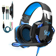 New 3.5mm Gaming Headset Headphones Surround Mic for PC Laptop PS4 Xbox One