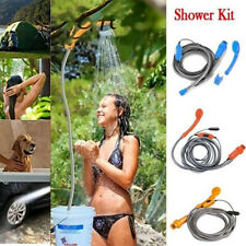 12V Outdoor Automobile Car Shower Set Water Spray Pump Camping Nozzle Portable