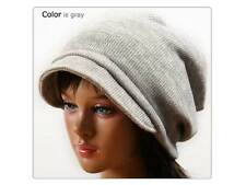 NEW brim BEANIE Knit winter Hat Beret Skull Cap Ski DbW