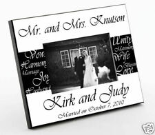 Mr and Mrs Personalized Wedding Honeymoon Gift Frame