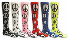 Red Lion Peace Sign Knee Hi Socks