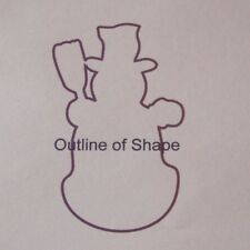 SNOWMEN Unfinished Wooden Shapes Cut Outs S8094