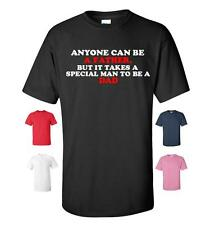 ANYONE CAN BE A FATHER FUNNY T-SHIRT MENS WOMENS