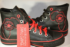 WOMEN'S Converse Chuck Taylor Product Red Africa Leather Blk Red Hi 2 pair laces