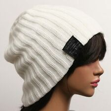 men's & women's Ribbed Beanie hat skull cap ski knit tq
