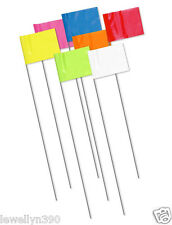 NEW CH Hanson Wire Marking Surveyor Flag Survey Flags 100pk Day Glo Colors