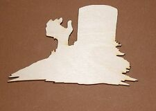 Wave from Grave Shape Flat Unfinished Wood Craft Cut Outs Variety Sizes FG1274