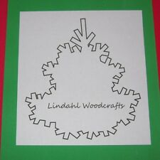 Abstract Holiday Tree Shape Unfinished Wood Craft Cut Outs Variety Sizes AT91003