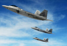 MA3 Military Aircraft USAF F22 Raptor Fighter Jet Airplane Poster Print - A2 A3