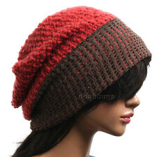 mens womens chic Baggy BEANIE Unisex oversize slouchy Knit Hat Skull Cap New d2j