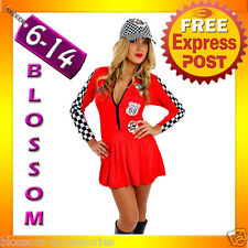 E26 Sexy Miss Indy Super Car Racer Racing Sport Driver Grid Girl Fancy Costume
