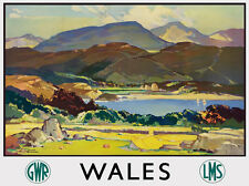 TT99 Vintage Wales GWR LMS Railway Travel Poster Re-Print A3 A2