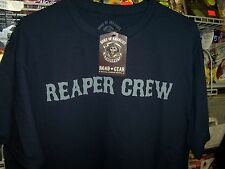 SONS OF ANARCHY REAPER CREW NAVY T-SHIRT NEW !