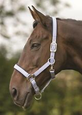 Shires Thoroughbred Strong Nylon Headcollar Various Colours Nubuck Padding