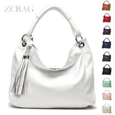 Classic Tassel Genuine Leather Women Handbag Ladies Shoulder Bag Purse Satchel