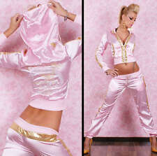 HOT & SEXY SATIN TRACKSUIT BY REDIAL Baby Pink