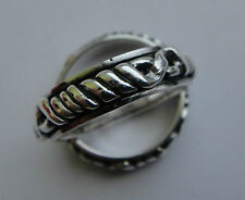 Tribal Etched Braid Knot Sterling Silver Spinning Band Ring Pick SIZE 11 12 12.5