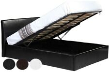3ft 4ft 4ft6 or 5ft Faux Leather Ottoman Storage bed. Black , Brown or White