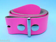 Snap on Real Leather Belt Pink Made in England