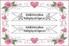 WEDDING DAY JUST MARRIED BANNER PERSONALISED