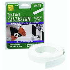 Tub And Wall Bathtub Sealer Trim Caulk Strip CHOICE OF SIZE / COLOR New