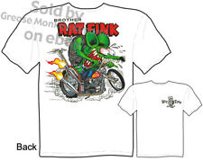 Rat Fink Chopper T shirt, Ed Roth T Shirt Brother RatFink Tee, Sz M L XL 2XL 3XL