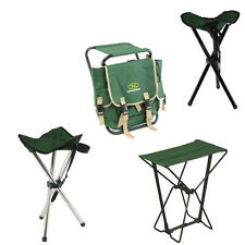 Highlander Folding Stools + Bag Chair for Camping, Festivals, Fishing