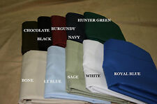 50/50 Percale Pillow Shams - sold per piece - all sizes available - 13 colors