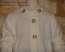 Gilet long capuche amovible 2 poches 30%Mohair neuf Pierre-cedric Prix imbattabl
