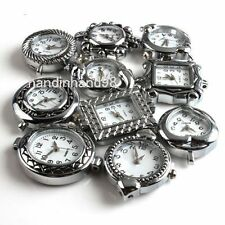 2pcs Rhodium Plated Assorted Charm Quartz Watch Face Findings FREE SHIP