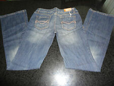 Mossimo Womens Ladies Bootcut Dark Wash Slightly Distressed Blue Jeans New