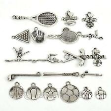 Free Ship 30pcs Sports Style Tibetan Silver Alloy Assorted Charms To Pick