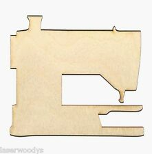 Sewing Machine Unfinished Flat Wood Shapes Cut Outs SM1099 Variety Sizes Crafts