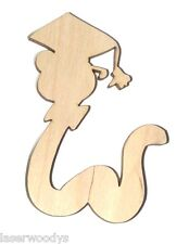 Book Worm Unfinished Flat Wood Shapes Cut Outs BW362 Variety Sizes Crafts