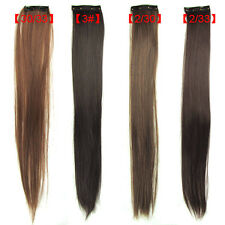 VERY Cheap Fashion Lady HOT Womens Long Straight Clip On In Hair Extensions