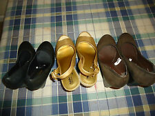 Mossimo Womens Ladies Wedge Espadrille Shoes Sandals Gold Black Brown Free Ship