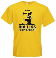 Rollins for President t shirt - Funny t-shirt comic Henry Rollins punk rock tv p