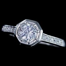 Slim .925 Sterling Silver Cubic Zirconia CZ Bridal Engagement Band Ring