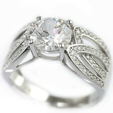 925 Sterling Silver Cubic Zirconia New Solitaire Bridal Engagement Band Ring