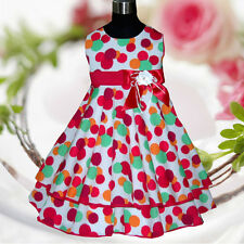 R1525 Toddler Girl Kid Reds Christmas Flower Girls Dress Outfit SZ 3-4-5-6-7-8-9