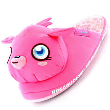 Girls Size 10 - 2 MOSHI MONSTERS Pink 3D Novelty Slippers POPPET REDUCED