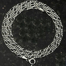 """TOP SELLER! 2.5MM 060 FIGARO CHAIN SOLID .925 STERLING SILVER 16""""-30"""" SIZES"""