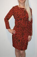 TOPSHOP RED LEOPARD SHIFT DRESS NEW SIZE 6 8 10 HOLLY WILLOUGHBY LAUREN LAVERNE