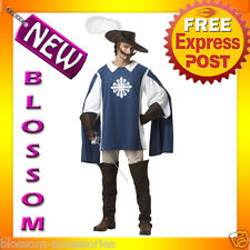 C158 Musketeer Medieval Renaissance French Cavalier Fancy Dress Adult Costume