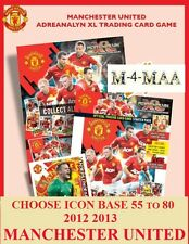 Choose Your ADRENALYN 2012 2013 MANCHESTER UNITED 12/13 ICON BASE CARDS 055 -080